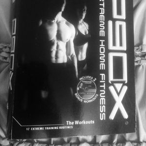 P90X! 12 DVD discs and fitness guide